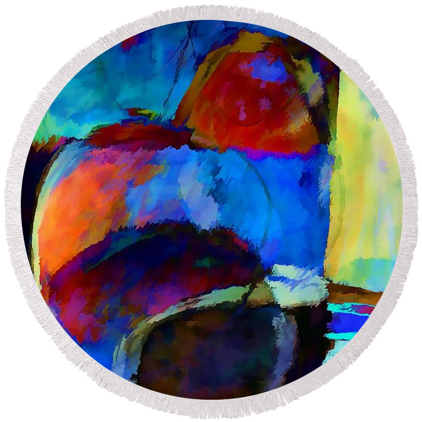 Abstraction Round Beach Towel featuring the digital art Abstraction 775 - Marucii by Marek Lutek
