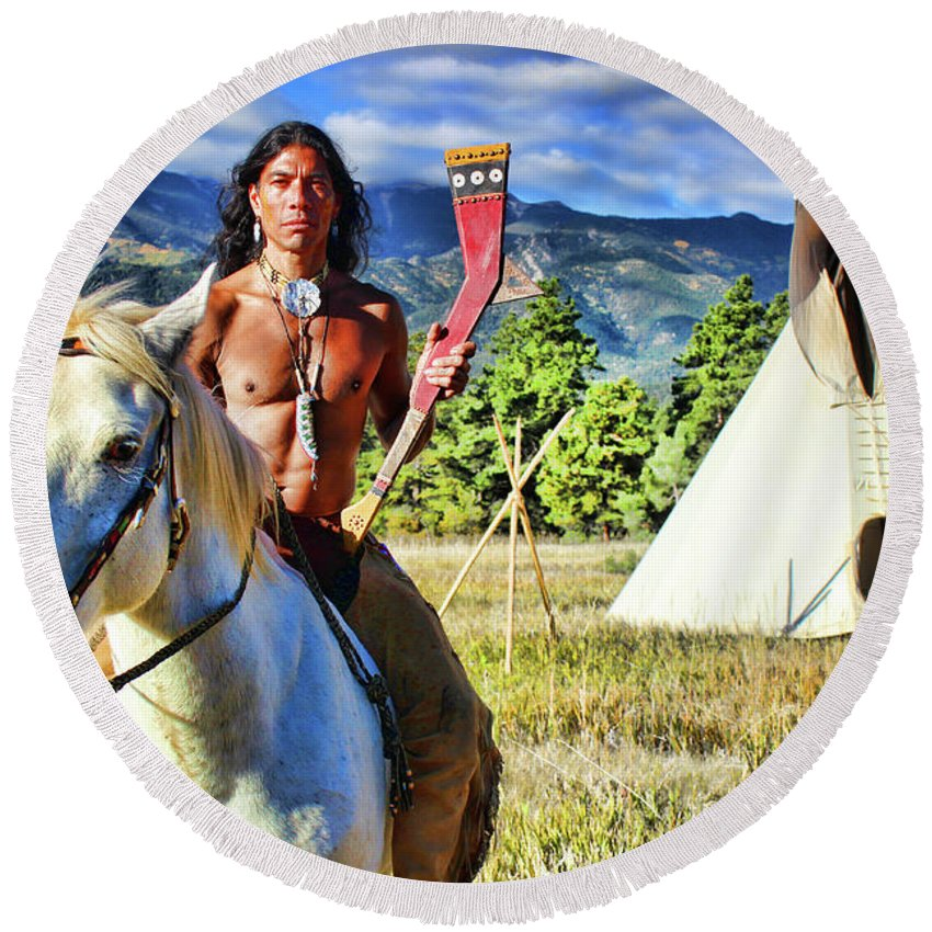 Adam Joaquin Gonzalez Round Beach Towel featuring the photograph Adam Joaquin Gonzalez by Samantha Burrow