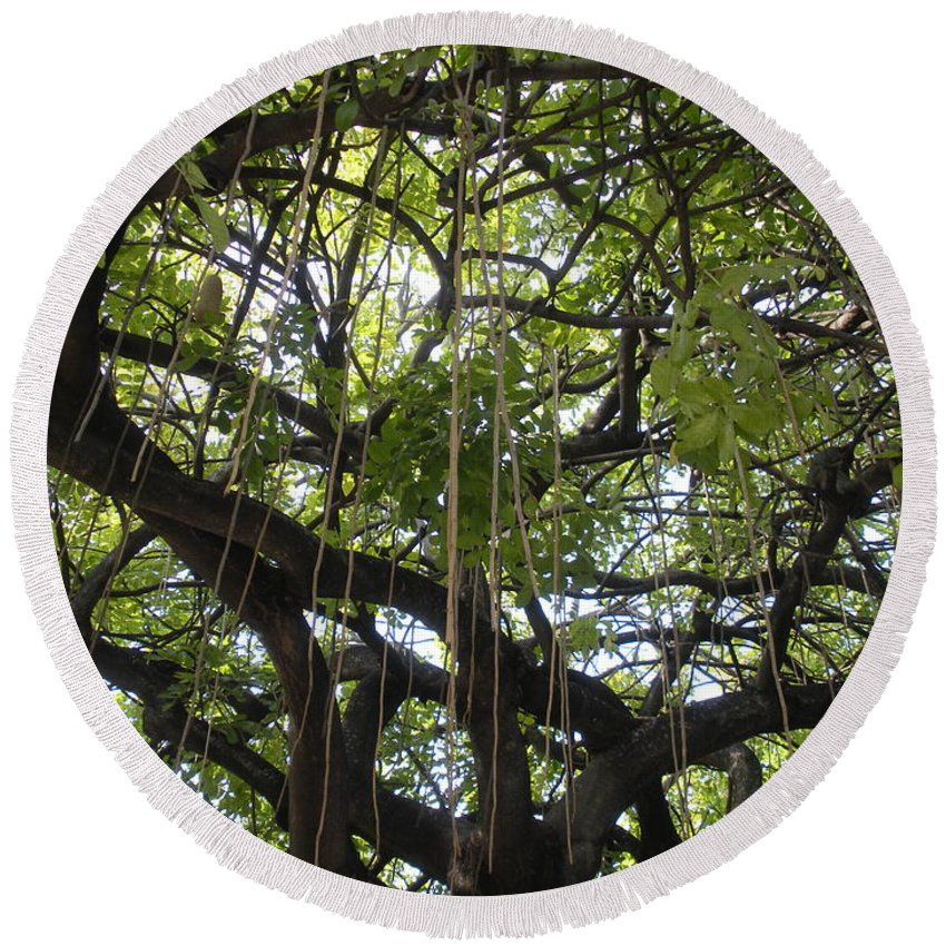 Trees Round Beach Towel featuring the photograph Aerial Network I by Maria Bonnier-Perez