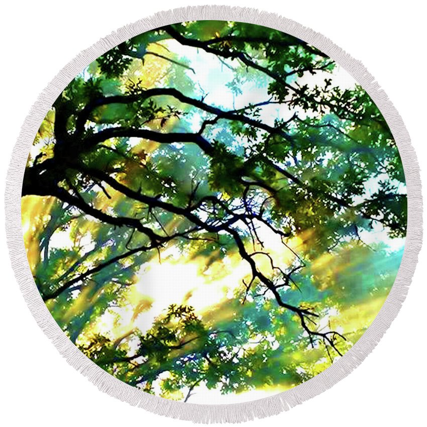 Landscape Round Beach Towel featuring the photograph After The Storm by Kelly Campbell Berry
