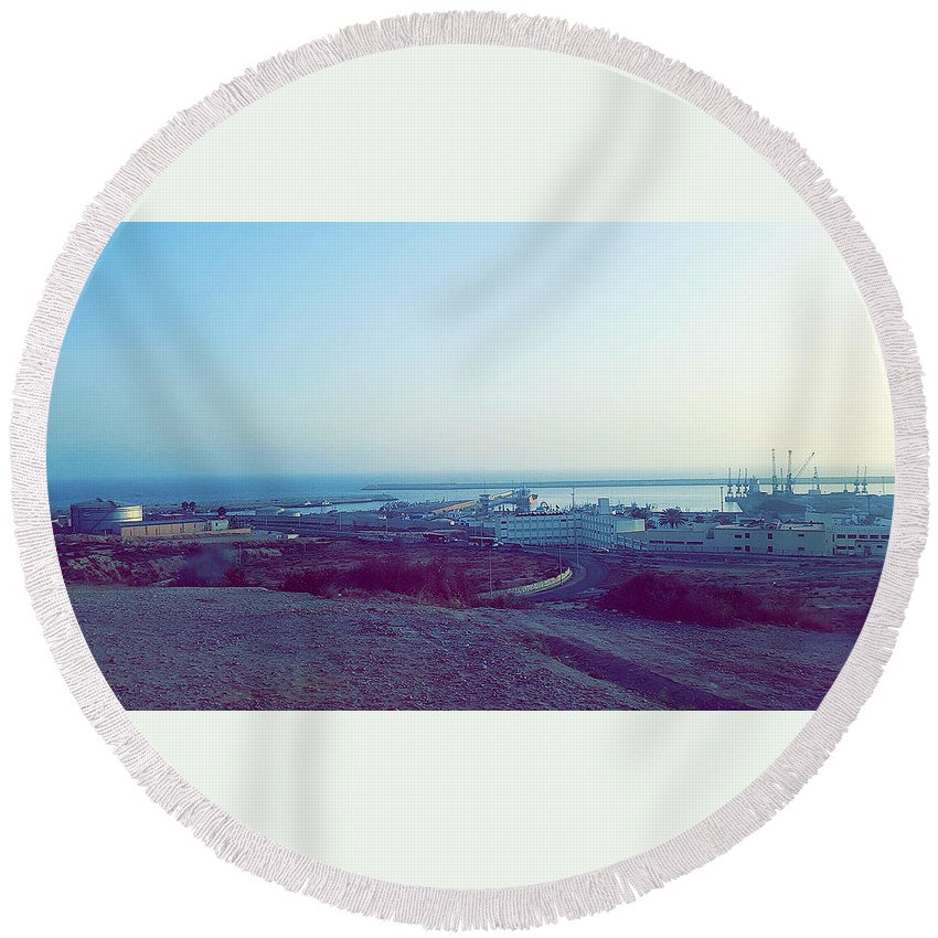 Nature Round Beach Towel featuring the photograph Agadir Nature by Hassan Boumhi