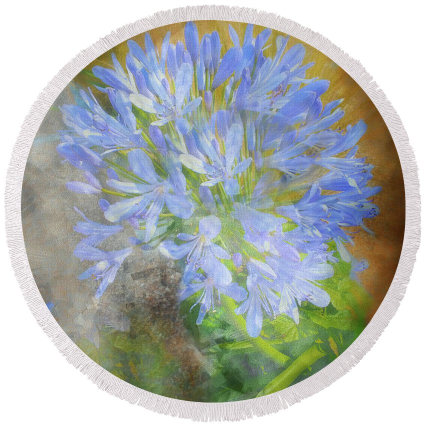 Floral Round Beach Towel featuring the photograph Agapanthus I by Jack Torcello