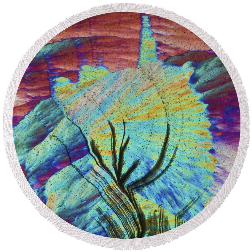 Abstract Round Beach Towel featuring the photograph Agat 19 by Bernardo Cesare