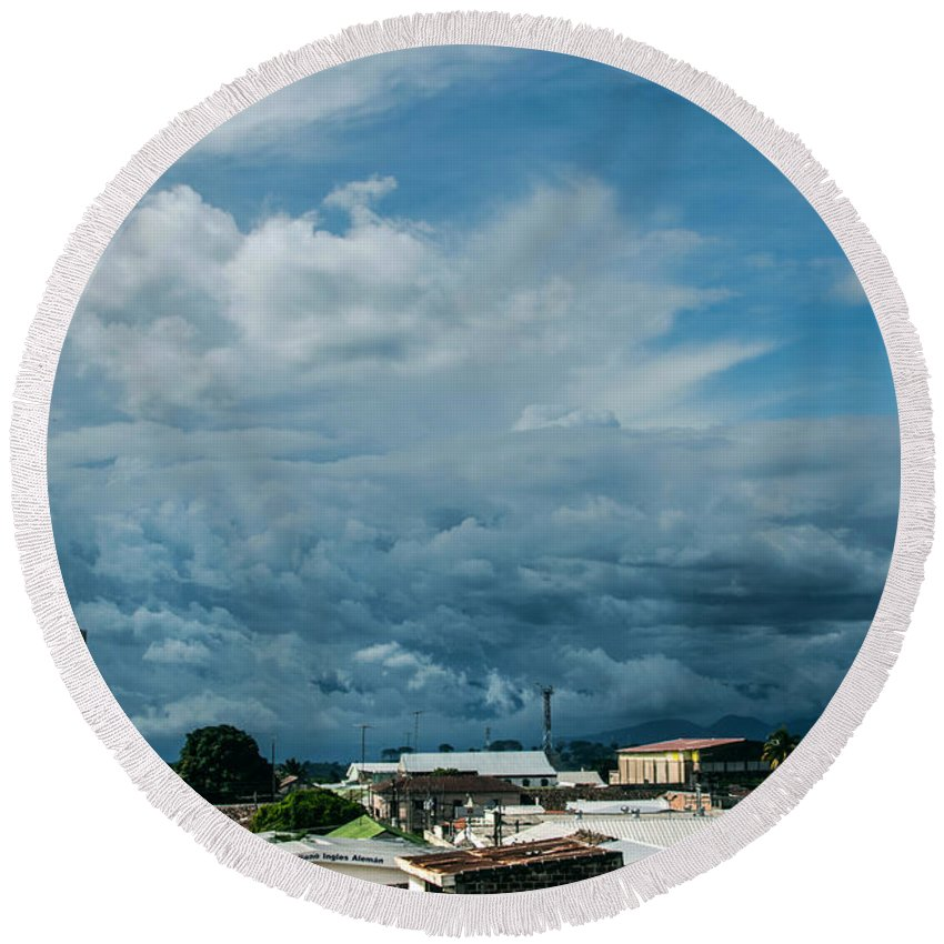 Ahuachapan Round Beach Towel featuring the photograph Ahuachapan Color 3 by Totto Ponce