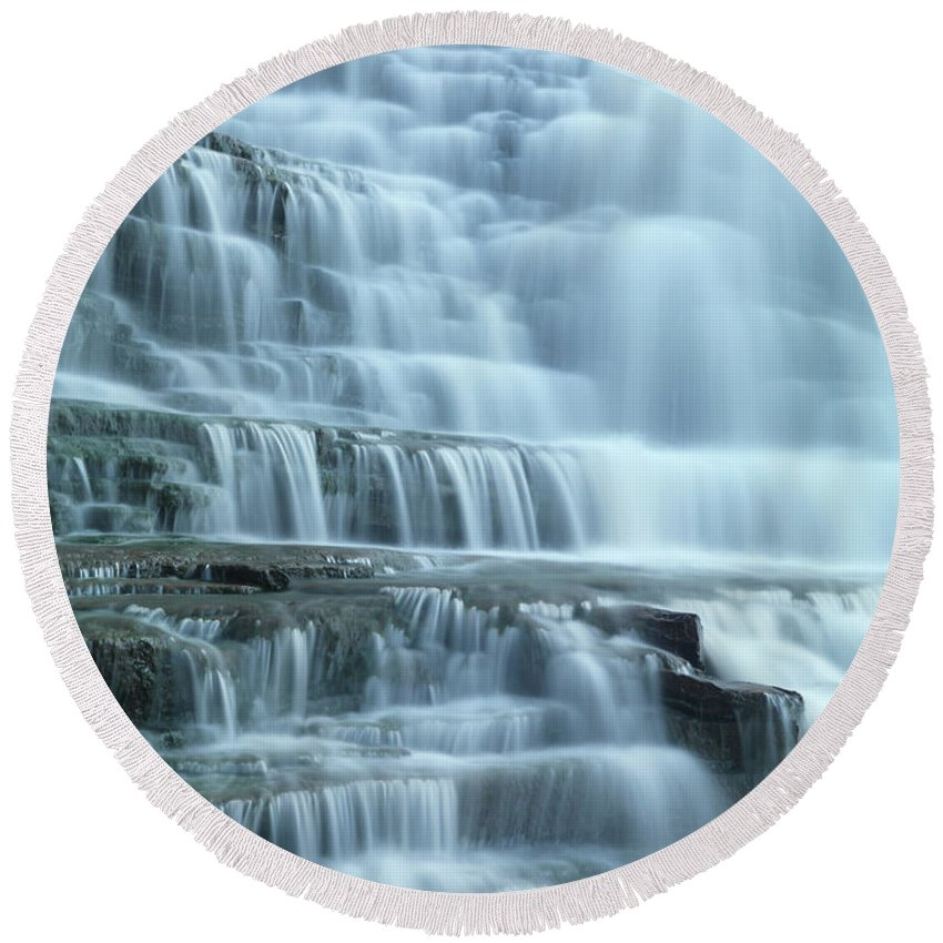 Waterfall Round Beach Towel featuring the photograph Albion Falls by Maxim Images Prints
