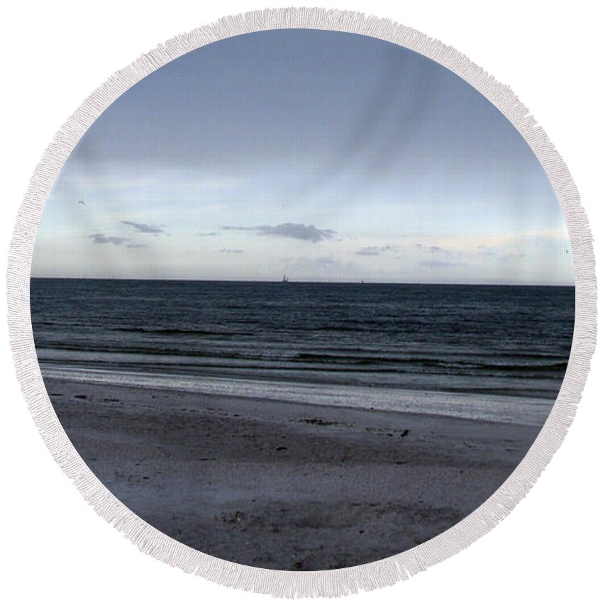 St Petersburg Florida Round Beach Towel featuring the photograph Almost Sunset by Amanda Barcon