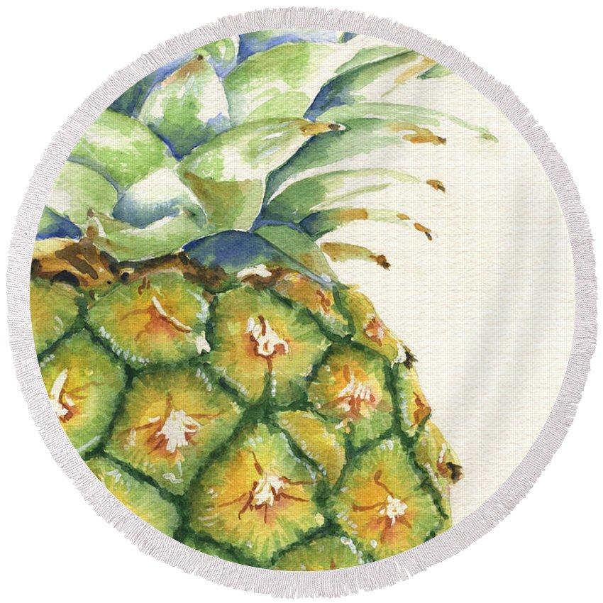 Pineapple Round Beach Towels