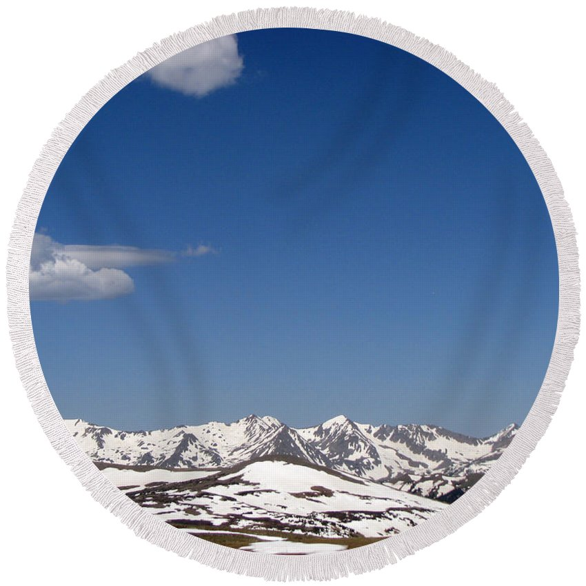 Mountains Round Beach Towel featuring the photograph Alpine Tundra Series by Amanda Barcon