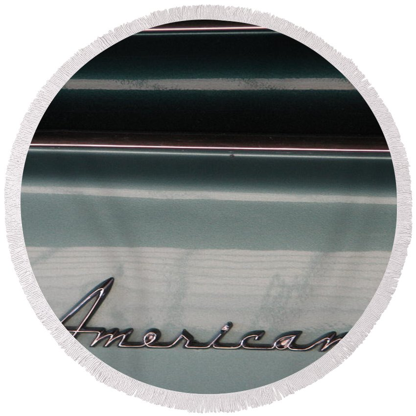 Rambler Round Beach Towel featuring the photograph American Classic by Kelly Mezzapelle