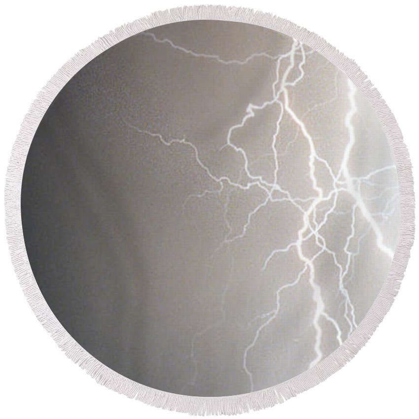 Usa Round Beach Towel featuring the photograph American Storm by James BO Insogna