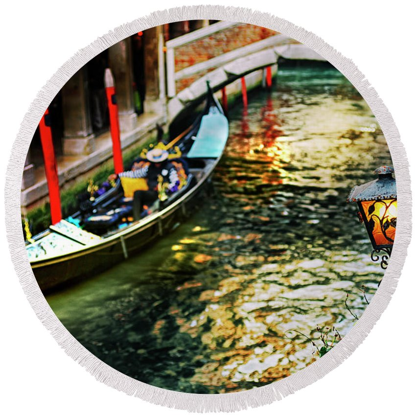 Ancient Round Beach Towel featuring the photograph ancient Venice by Gionata Ciabatti