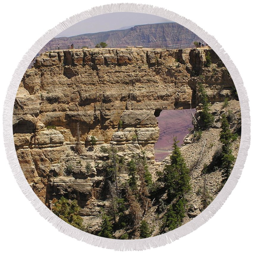 Grand Canyon Round Beach Towel featuring the photograph Angel by Louise Magno