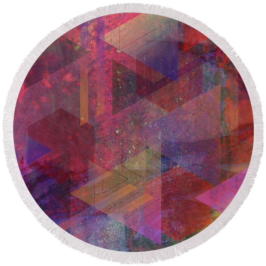 Another Place Round Beach Towel featuring the digital art Another Place by John Beck