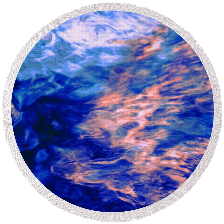Abstract Round Beach Towel featuring the photograph Answered Prayers by Sybil Staples