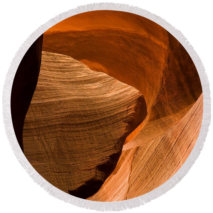 3scape Photos Round Beach Towel featuring the photograph Antelope Canyon No 3 by Adam Romanowicz
