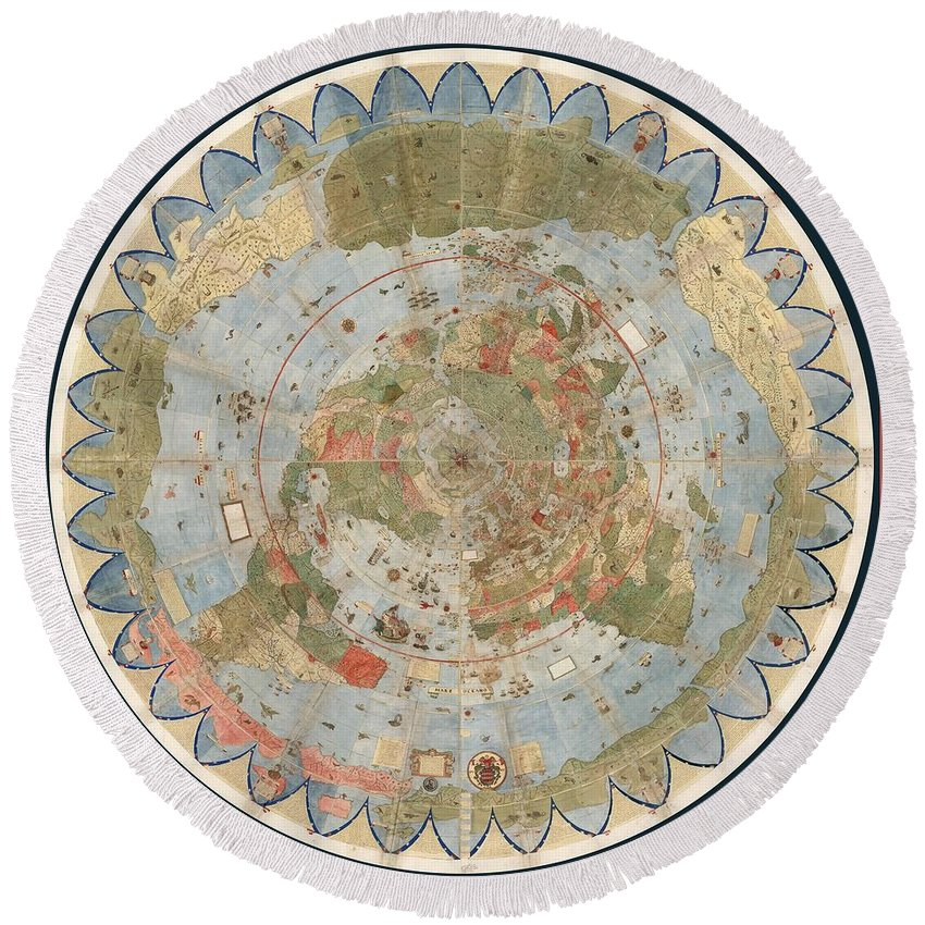 Flat Earth Map For Sale Antique Maps   Old Cartographic maps   Flat Earth Map   Map of the