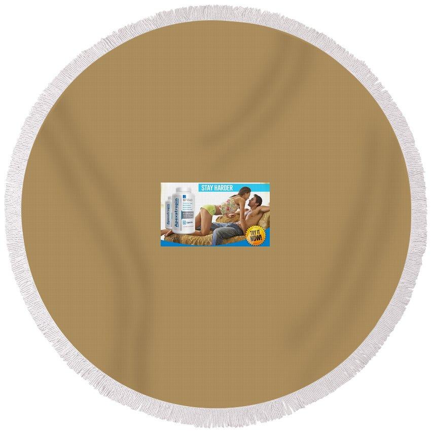 Apexatropin Male Enhancement Round Beach Towel featuring the glass art Apexatropin by Apexatropin Maleenhancement