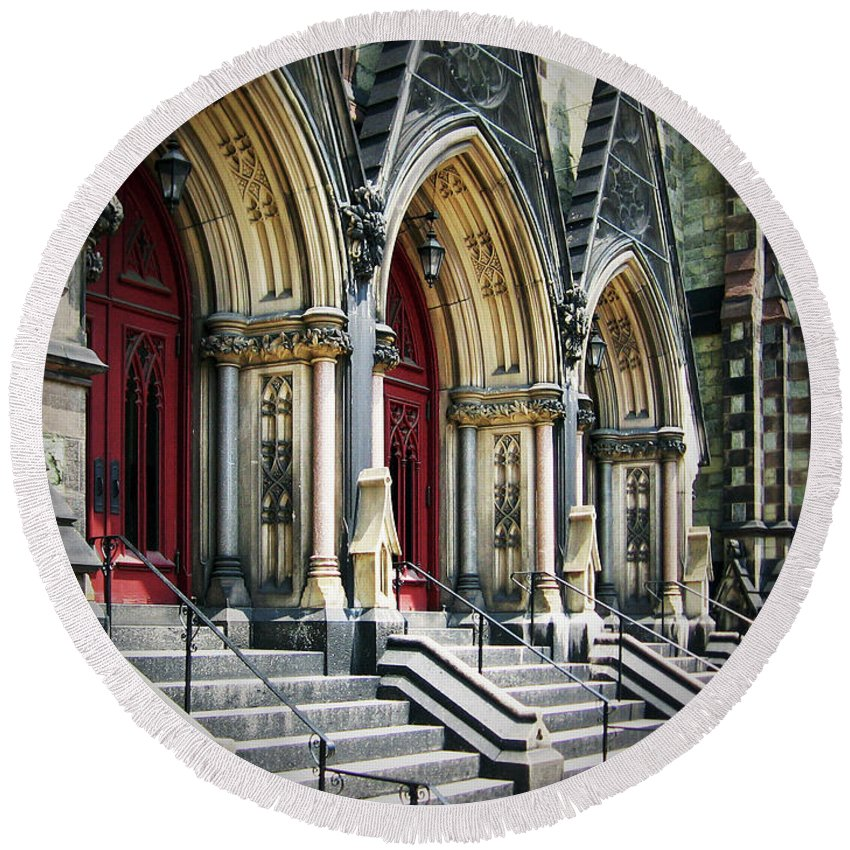 2d Round Beach Towel featuring the photograph Arched Doorways by Brian Wallace