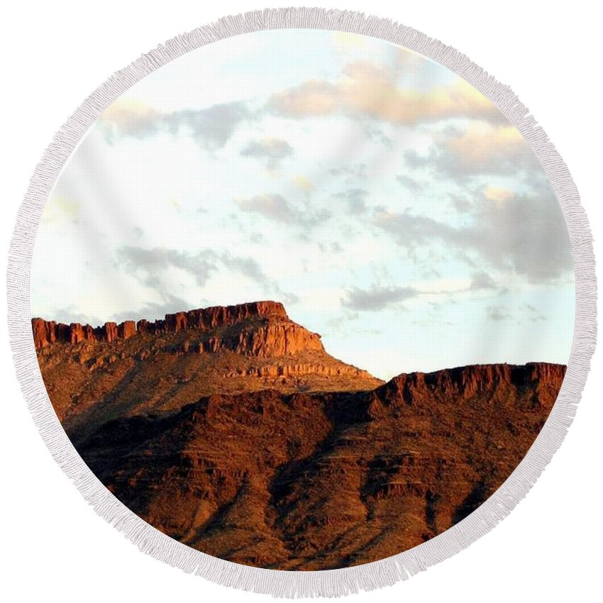 Arizona Round Beach Towel featuring the photograph Arizona 1 by Will Borden
