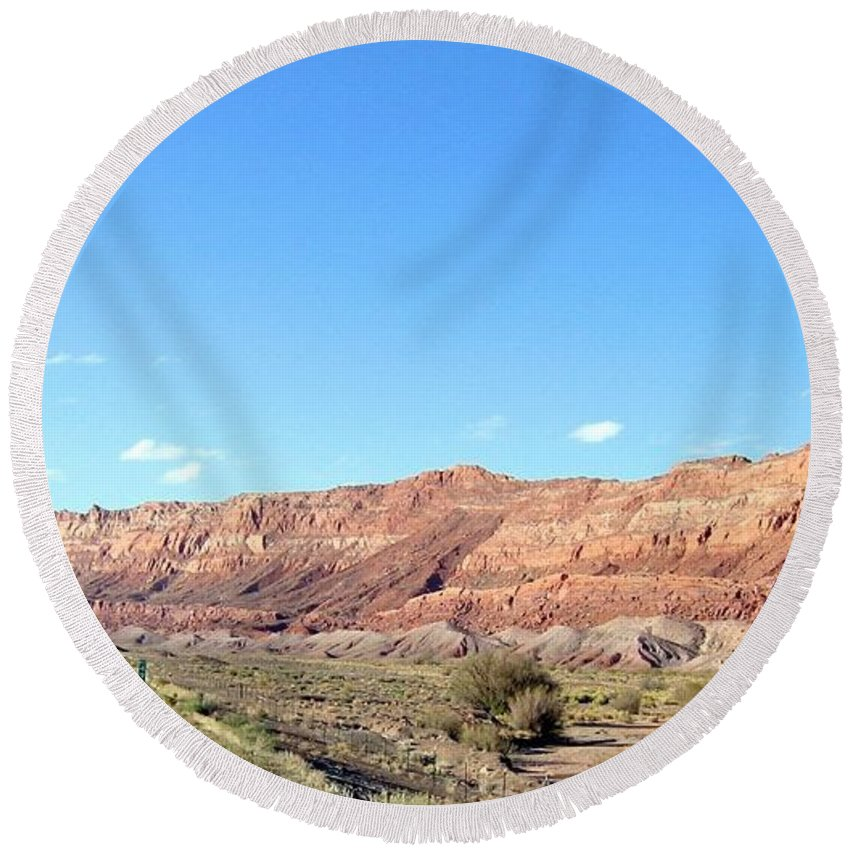 Arizona Round Beach Towel featuring the photograph Arizona 17 by Will Borden