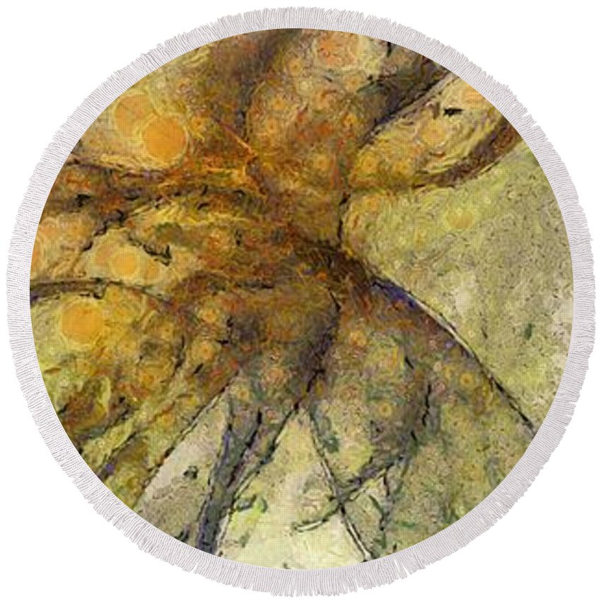 Ndr099 Round Beach Towel featuring the painting Arraignment Surface Id 16097-222826-11240 by S Lurk