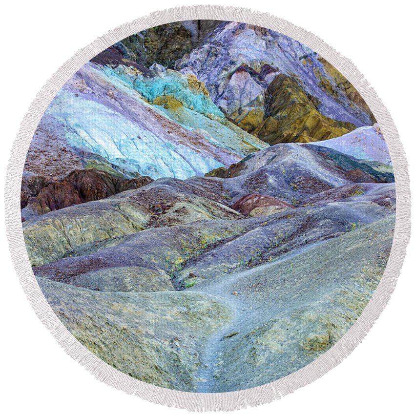 Art Round Beach Towel featuring the photograph Artist's Palette by Charles Dobbs