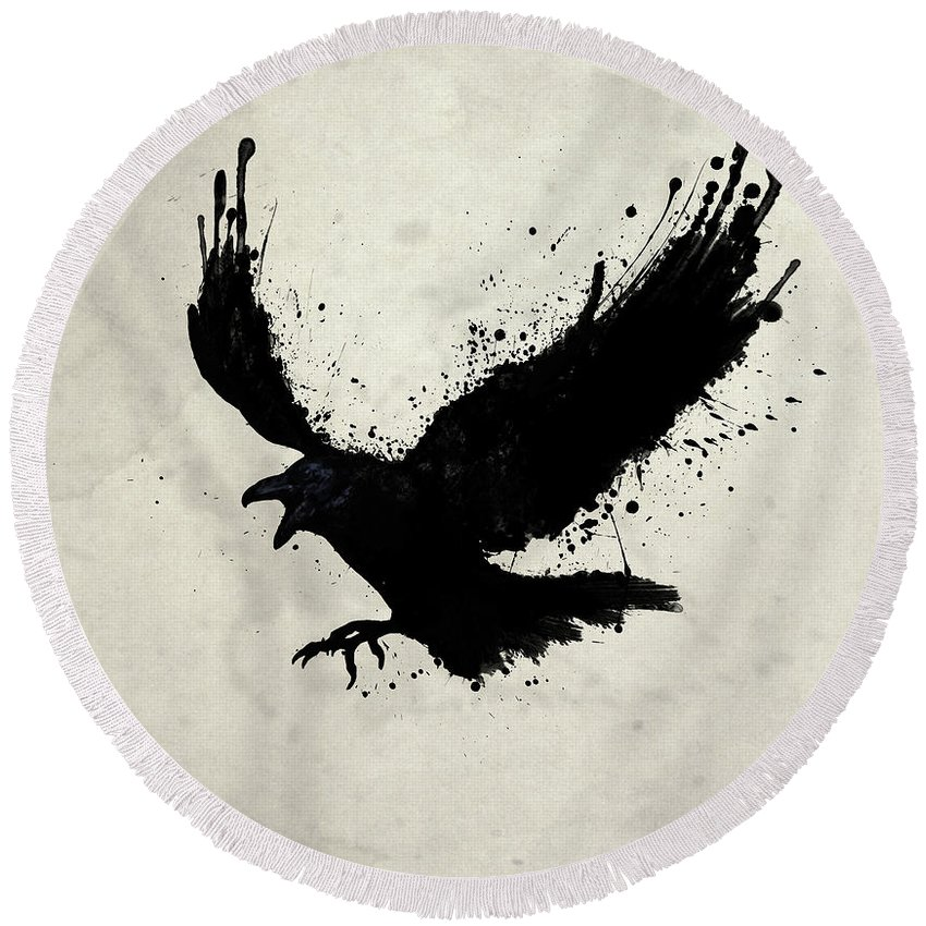 Raven Round Beach Towels
