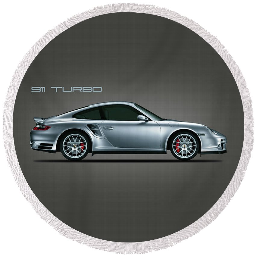 Porsche Round Beach Towel featuring the photograph The Iconic 911 Turbo by Mark Rogan