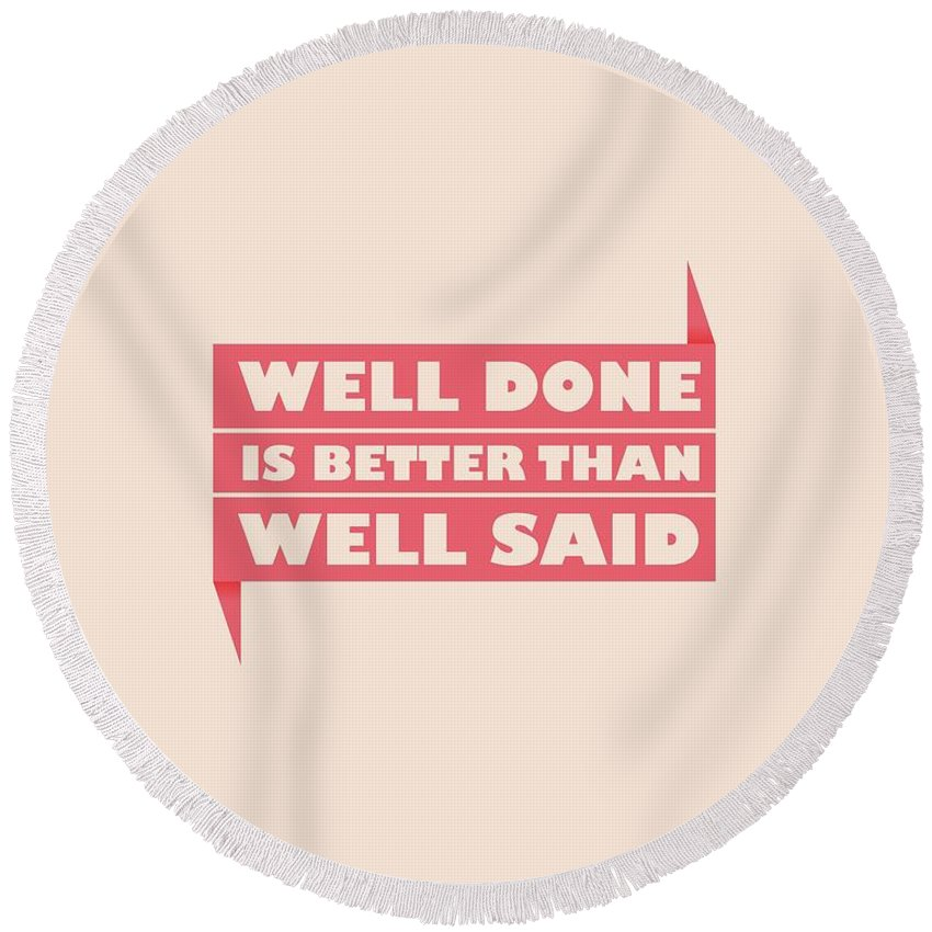 Well Round Beach Towels