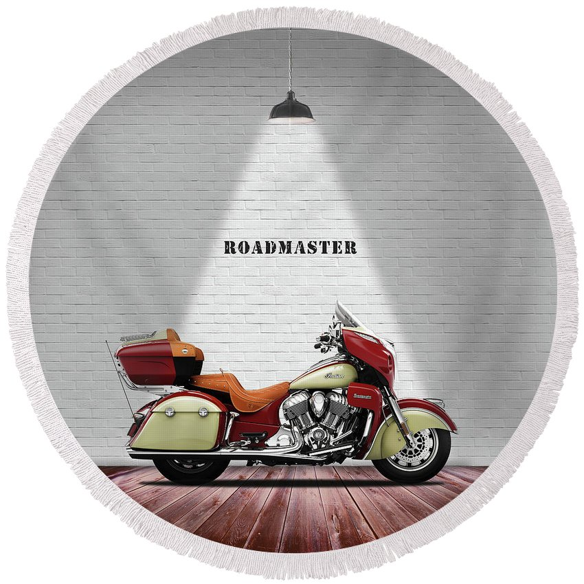 Indian Roadmaster Round Beach Towel featuring the photograph The Roadmaster by Mark Rogan