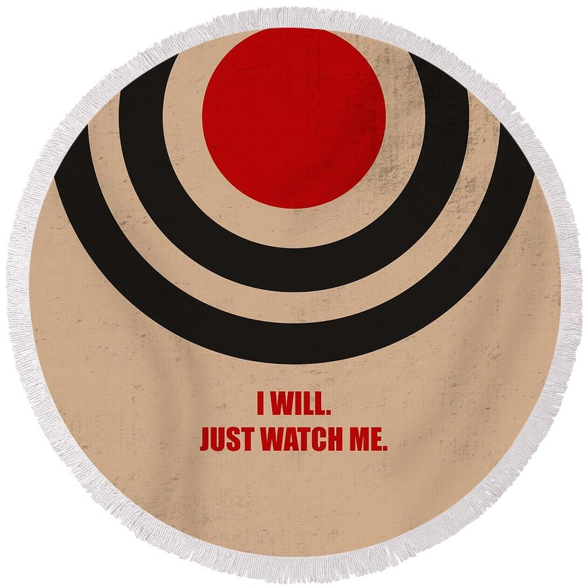I Will Just Watch Me Corporate Start Up Quotes Poster Round Beach Towel For Sale By Lab No 4