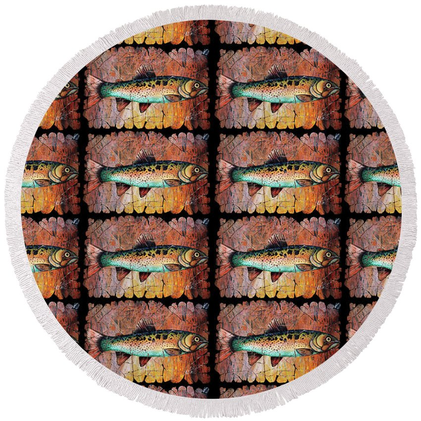 Designs Similar to Vintage Red Trout Fresco