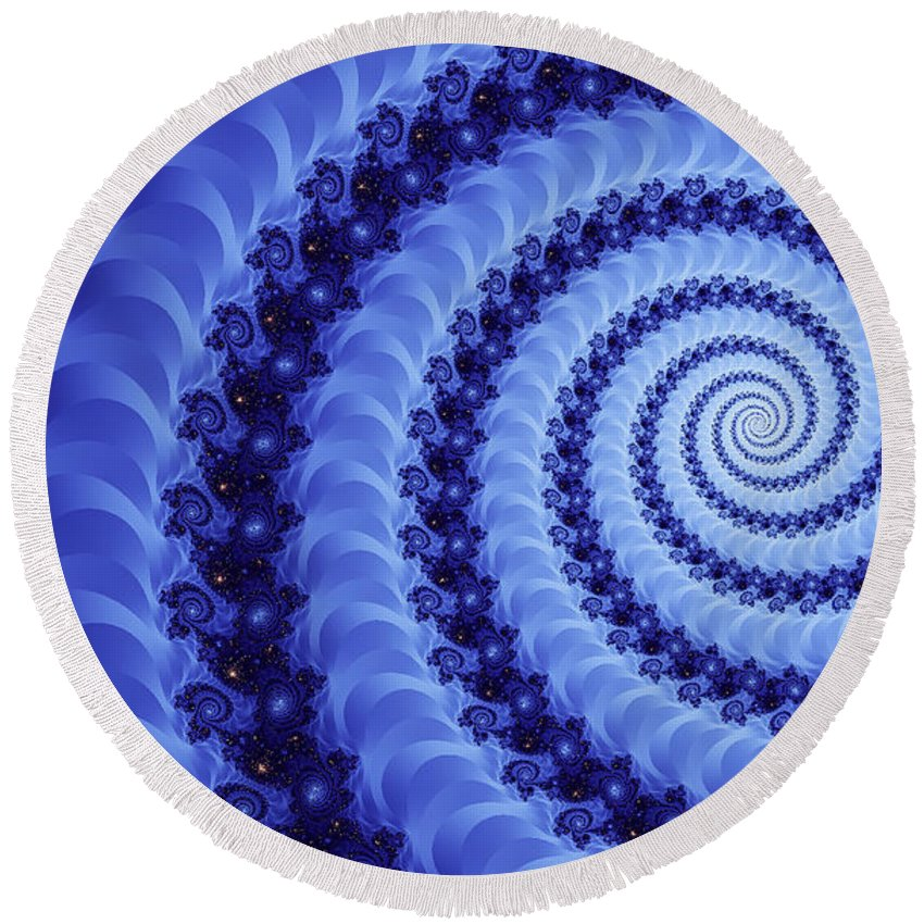 Clay Round Beach Towel featuring the digital art Astral Vortex by Clayton Bruster