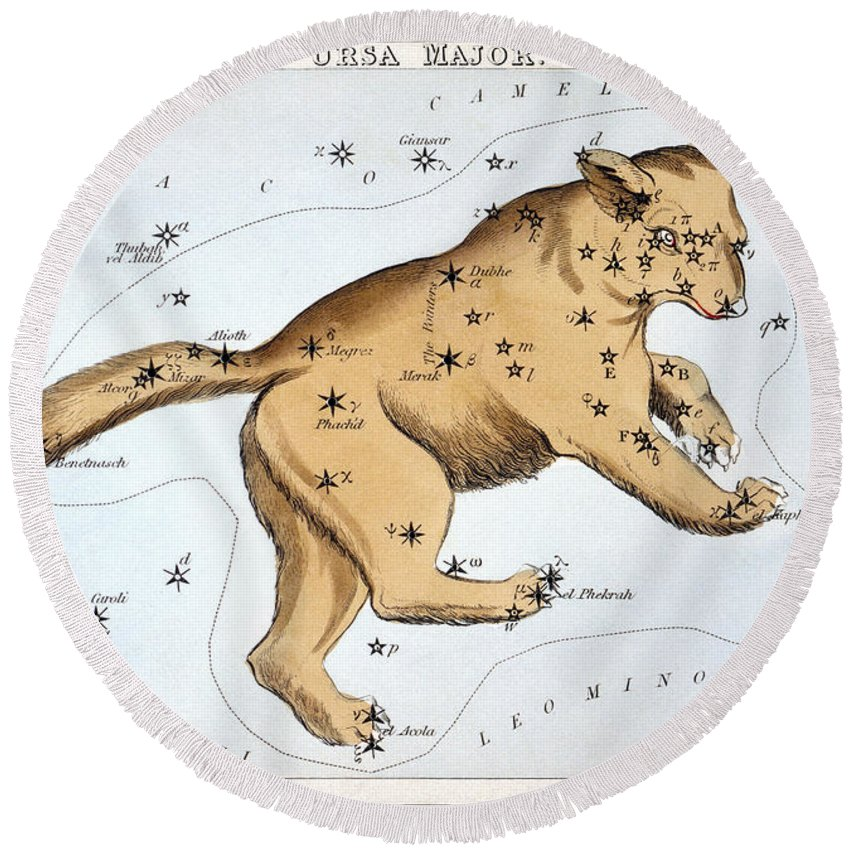 1825 Round Beach Towel featuring the photograph Astronomy: Ursa Major by Granger