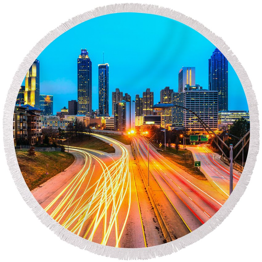 Atlanta Round Beach Towel featuring the photograph Atlanta - Usa by Luciano Mortula