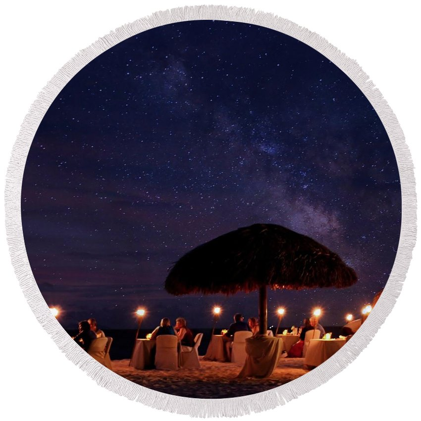 Long Exposure Round Beach Towel featuring the photograph Atmosphere by DJ Florek