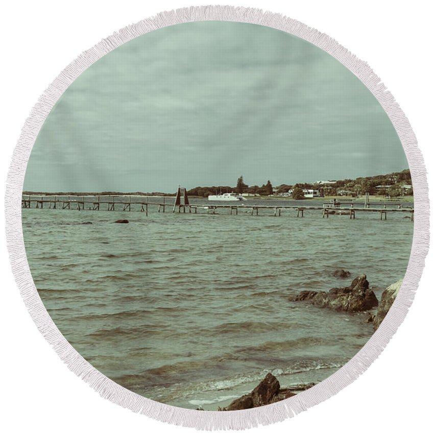 Augusta Round Beach Towel featuring the photograph Augusta Western Australia 2 by Elaine Teague
