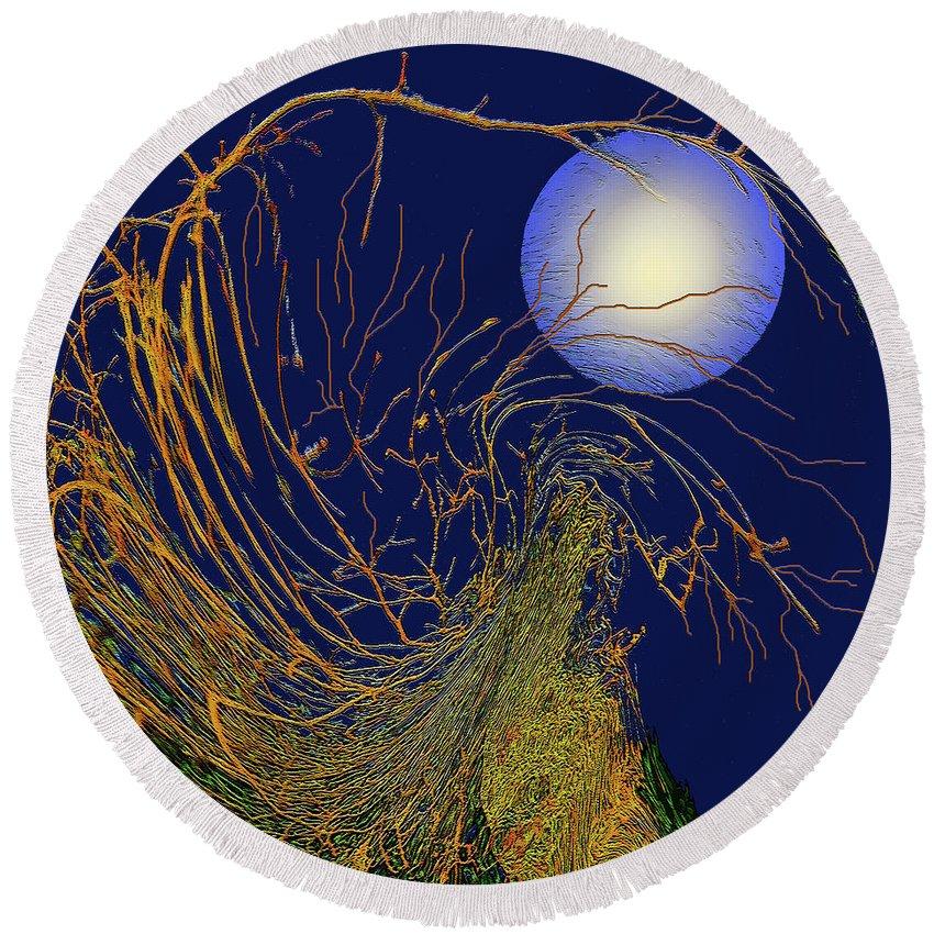 Seasons Round Beach Towel featuring the digital art Autumn #5 by Wendy Sheridan