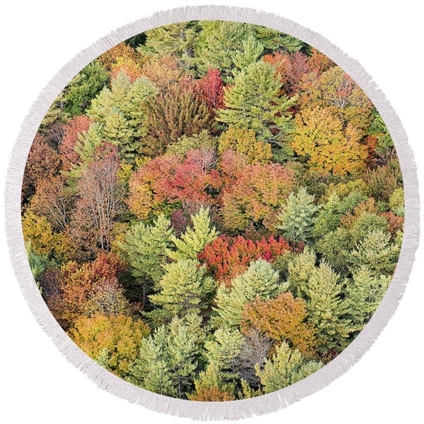 Vermont Round Beach Towel featuring the photograph Autumn Palette by Bruce Neumann