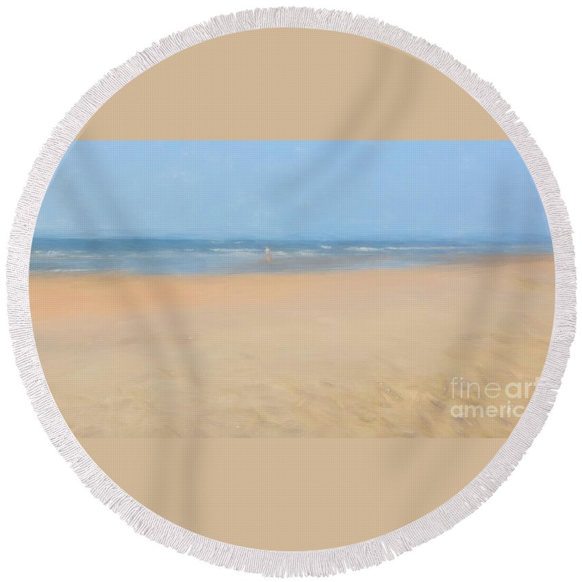 Beach Round Beach Towel featuring the photograph Awe Inspired by Mim White