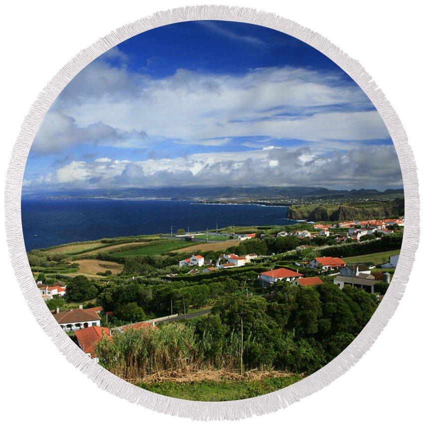 Archipelago Round Beach Towel featuring the photograph Azores Islands Landscape by Gaspar Avila
