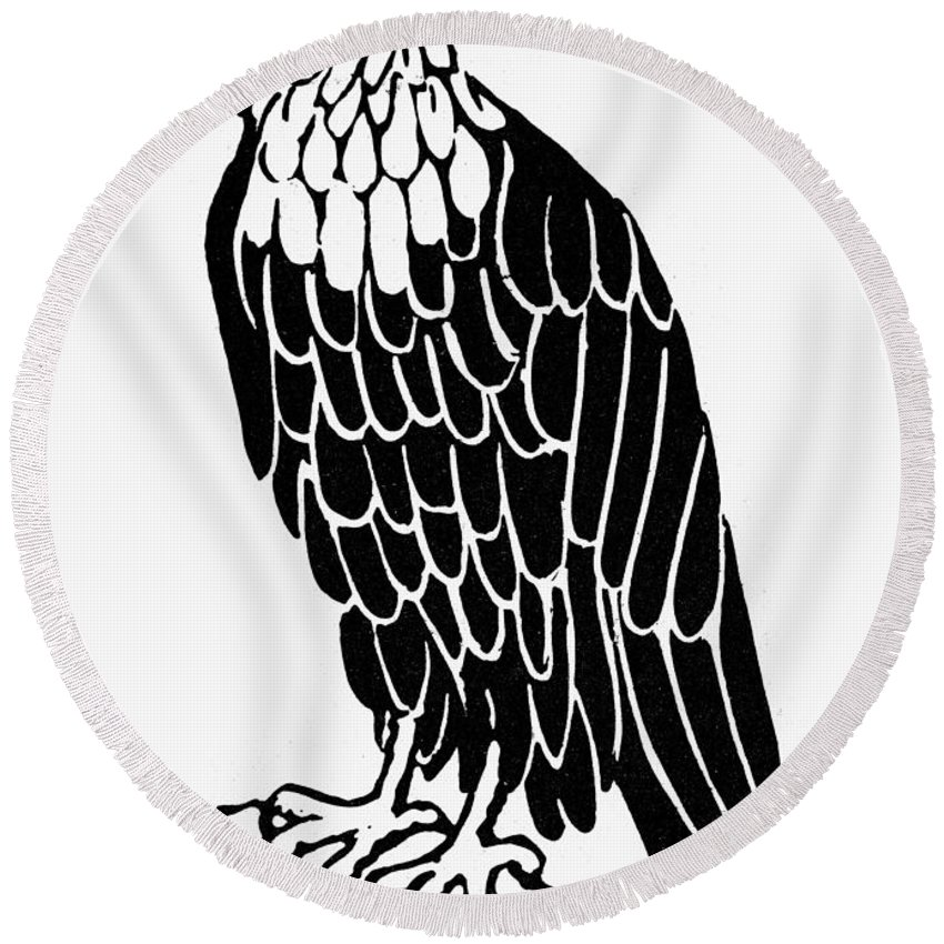 Allegory Round Beach Towel featuring the photograph Bald Eagle by Granger