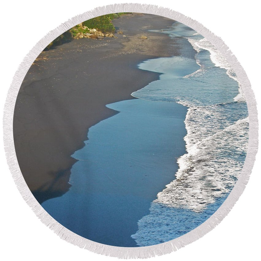Bali Round Beach Towel featuring the photograph Bali Western Shore by Mark Sellers