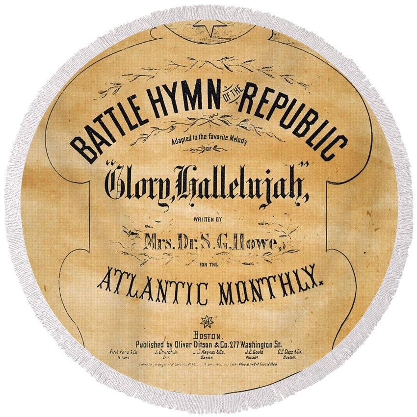 1862 Round Beach Towel featuring the photograph Battle Hymn Of The Republic by Granger