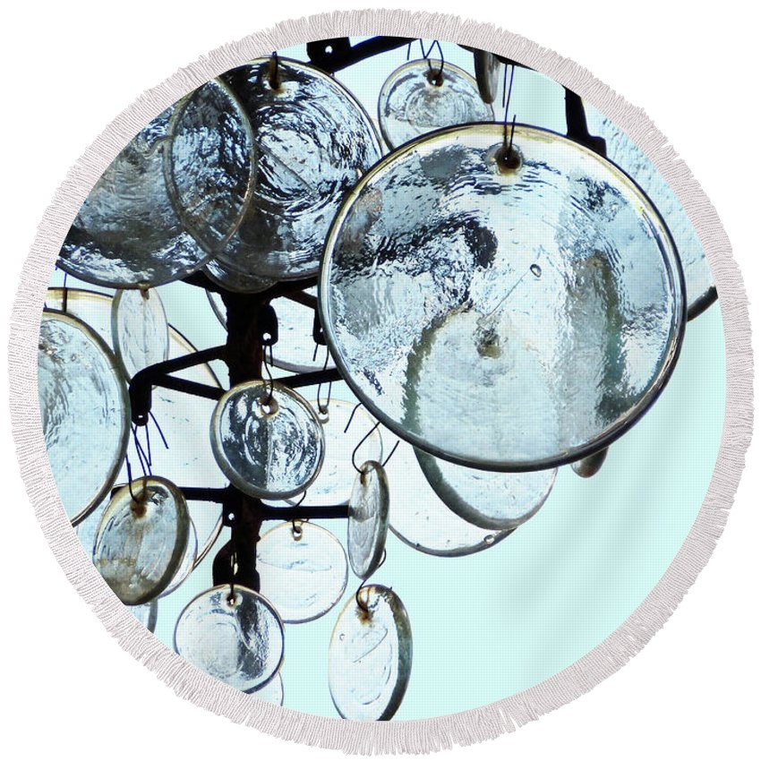 Baubles Round Beach Towel featuring the photograph Baubles by Methune Hively