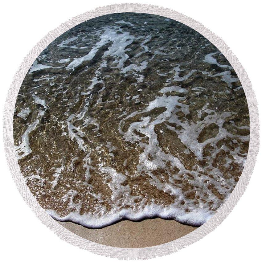 Beach Round Beach Towel featuring the photograph Beach At Grand Turk Ocean Beauty by Robert Smith