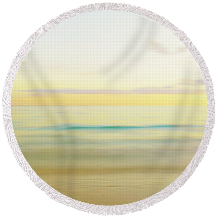 Sunset Round Beach Towel featuring the photograph Sunset On The Water by Skip Nall