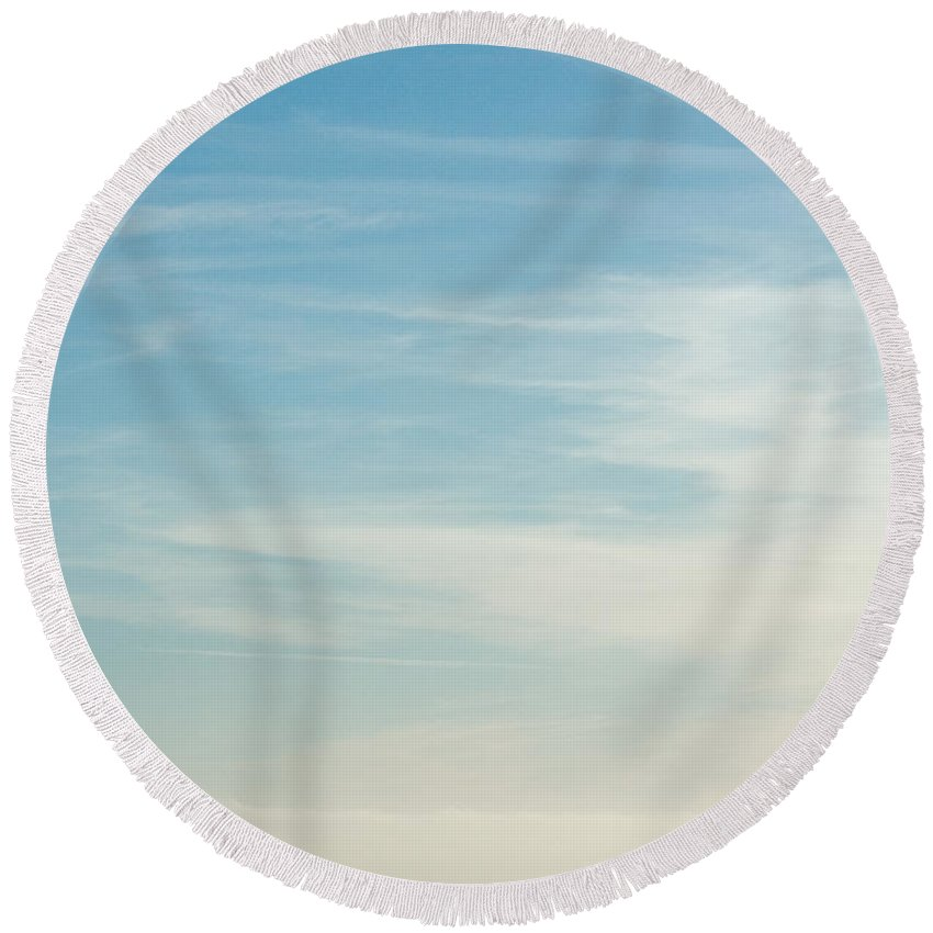 Nature Round Beach Towel featuring the photograph Beach Day by John K Sampson
