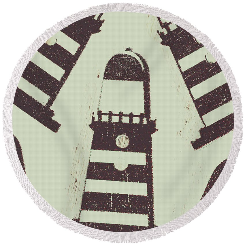 Tower Round Beach Towel featuring the photograph Beacon Buttons by Jorgo Photography - Wall Art Gallery