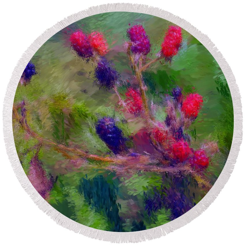 Nature Round Beach Towel featuring the photograph Bear Fodder by David Lane